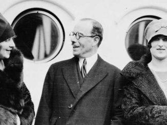 Baron Joseph Duveen met vrouw en dochter