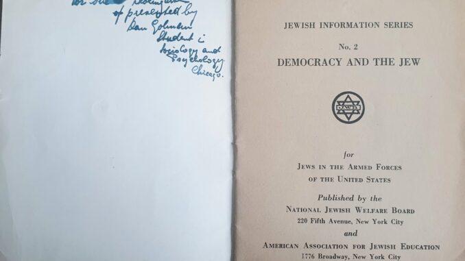 titelblad Democracy and The Jew