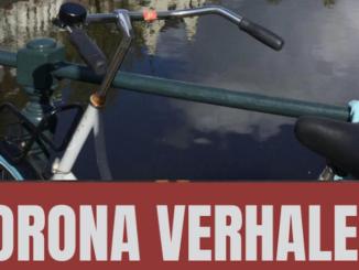 foto van fiets met daaronder coronaverhalen