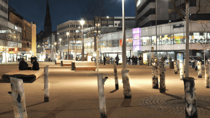 foto van het rabbijn Rülf Platz in Saarbrücken